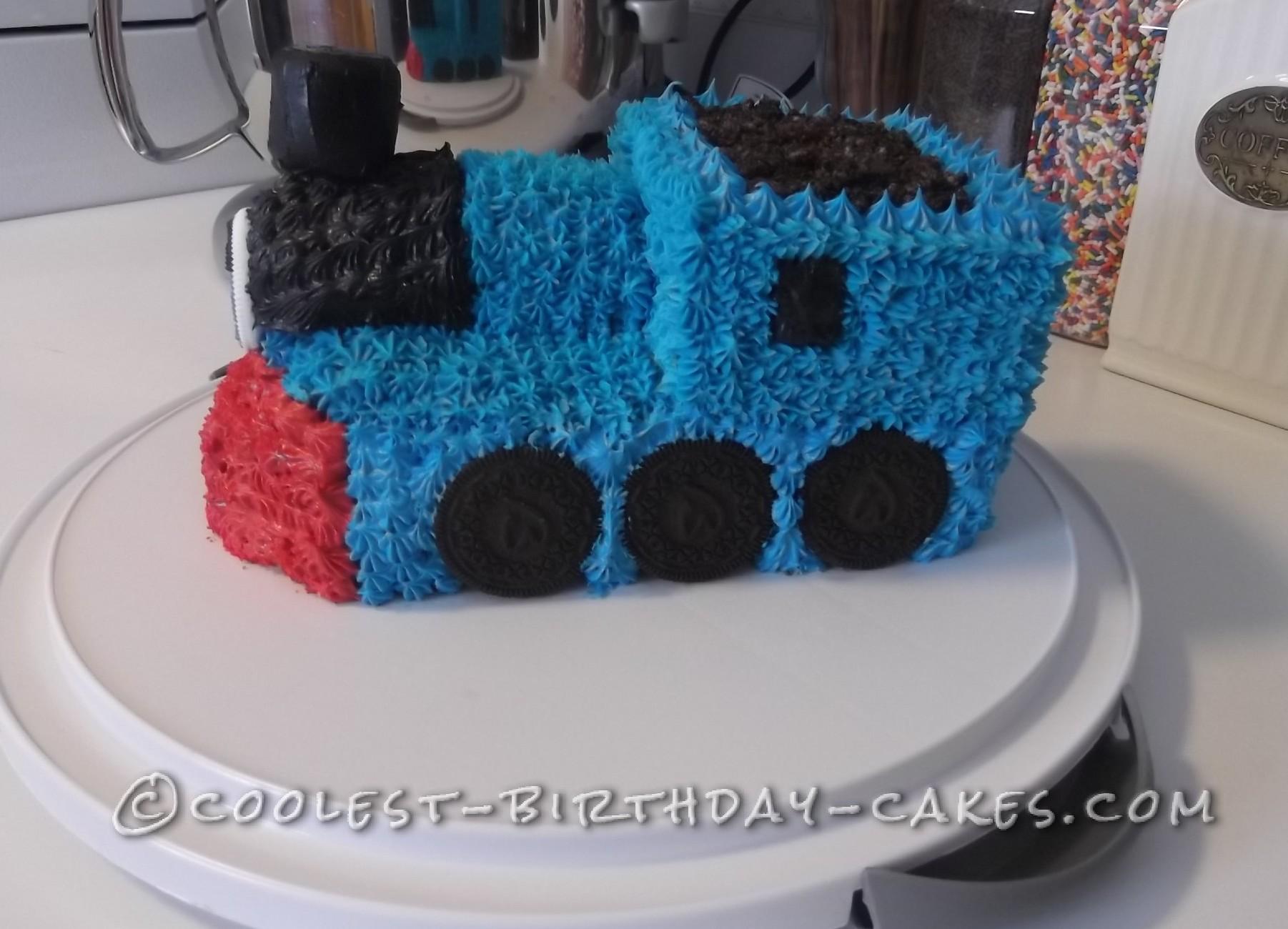 Simple Thomas The Train Birthday Cake