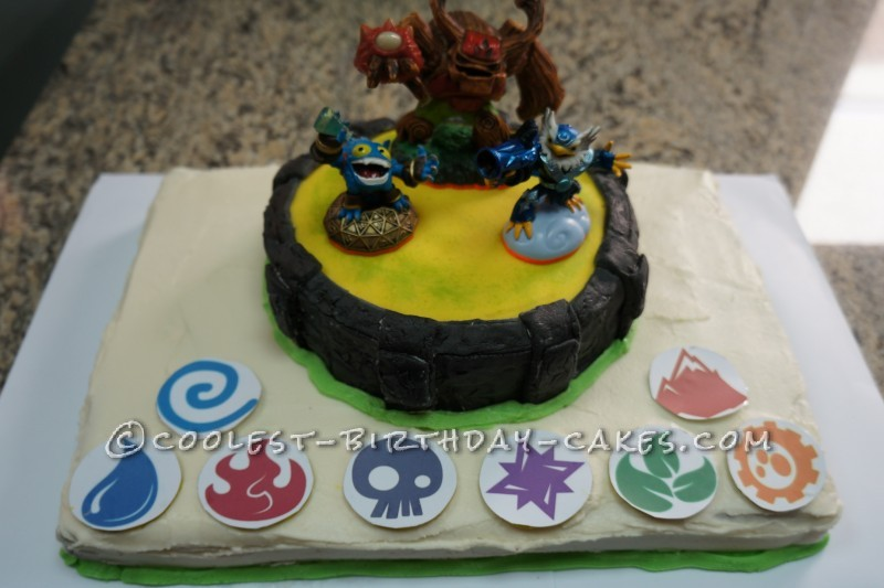 Astounding Skylanders Birthday Cake Portal Of Power Funny Birthday Cards Online Inifodamsfinfo
