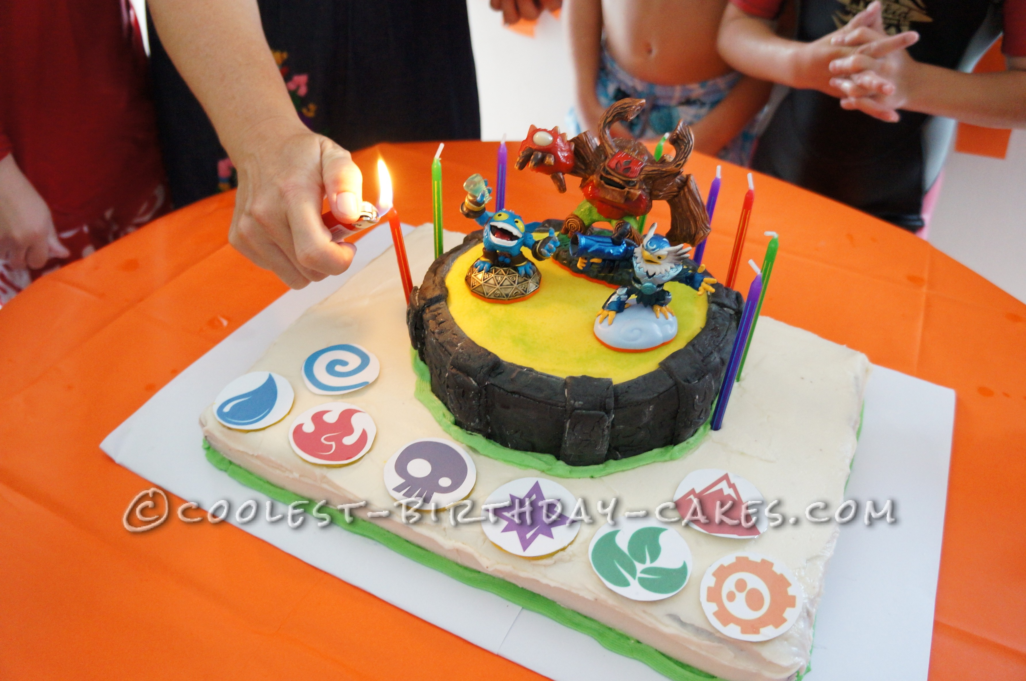 Amazing Skylanders Birthday Cake Portal Of Power Personalised Birthday Cards Veneteletsinfo