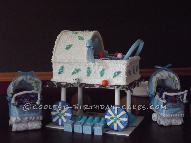 Special Baby Carriage Cake for a Special Mommy-To-Be