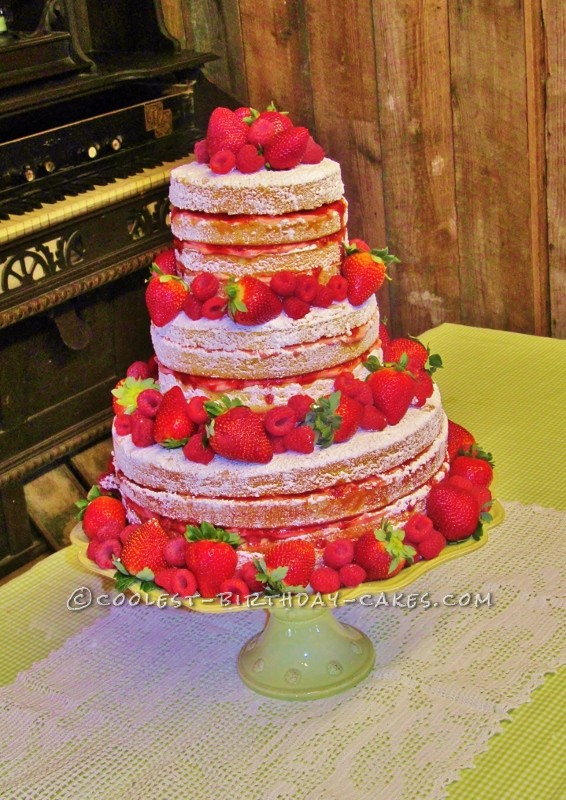 Coolest Strawberry Tall Cake