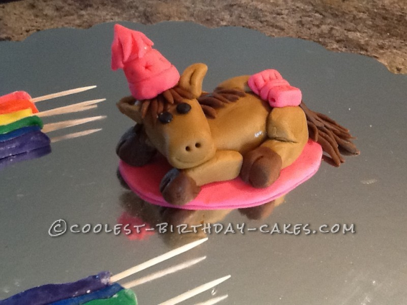 Summers Day Rainbow Horsey Cake
