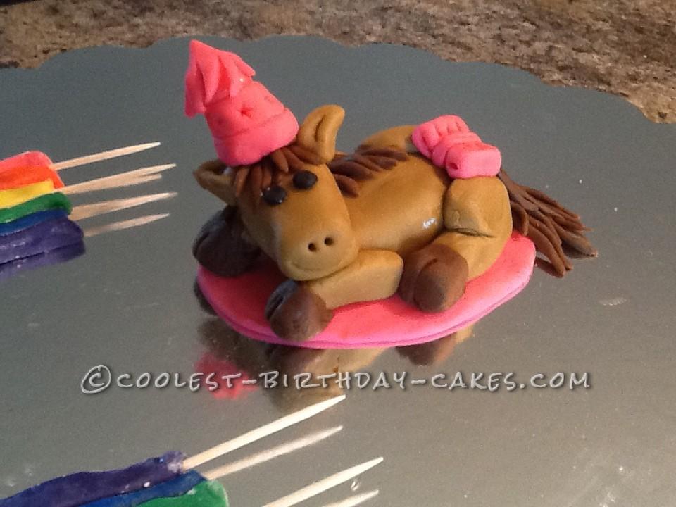 Summers Day Rainbow Horsey Cake
