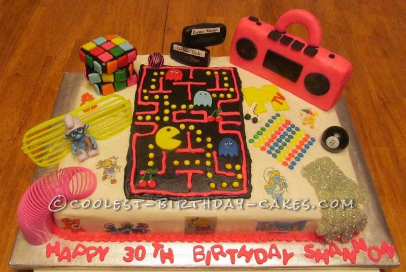 Admirable Coolest Homemade 80S Theme Cakes Funny Birthday Cards Online Barepcheapnameinfo