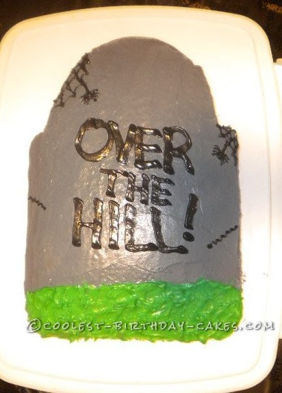 Coolest Tombstone Birthday Cake