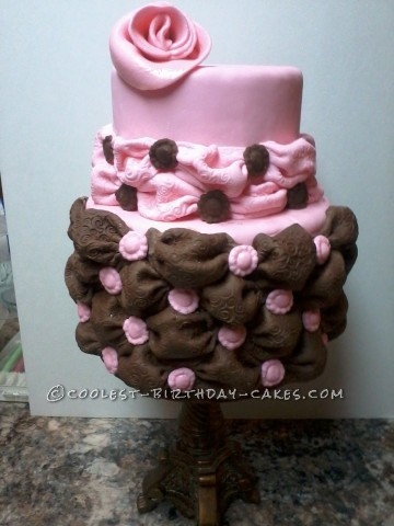 Tufted Billow Bridal Shower Cake