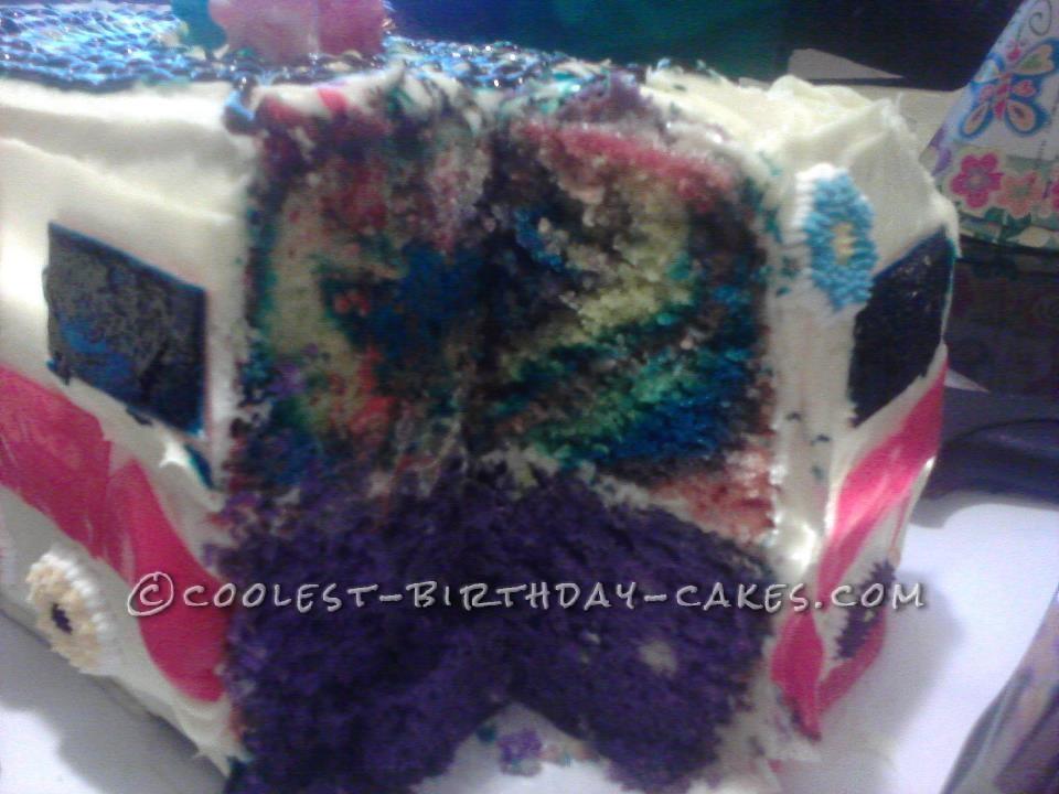 Tye Dye Van Cake