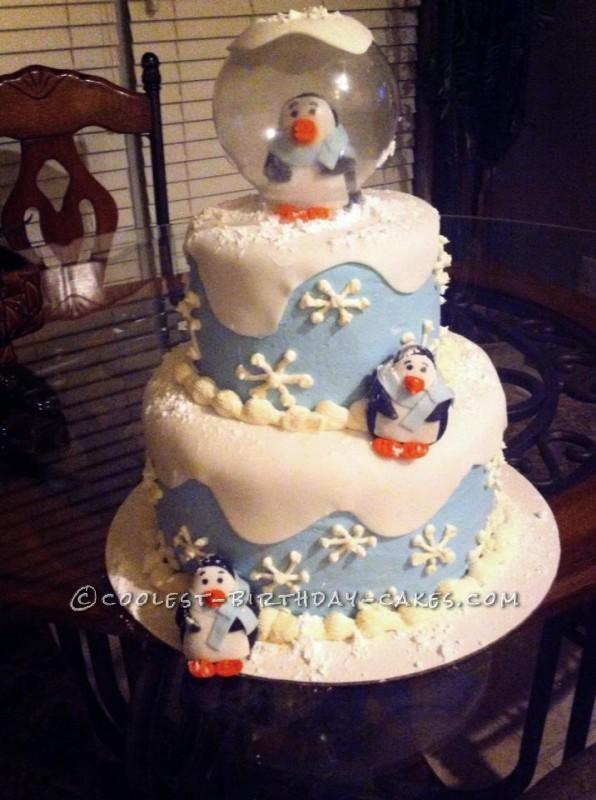 Coolest Winter ONEderland Birthday Cake