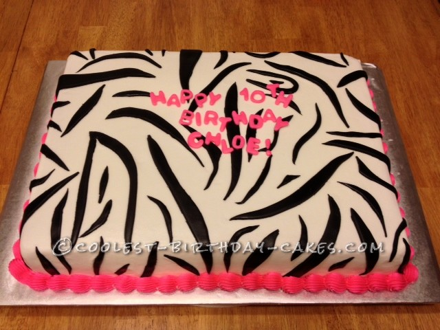 Terrific Coolest Zebra Print Cake Funny Birthday Cards Online Overcheapnameinfo