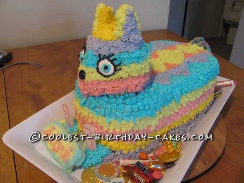 Coolest Candy Filled Pinata Cake