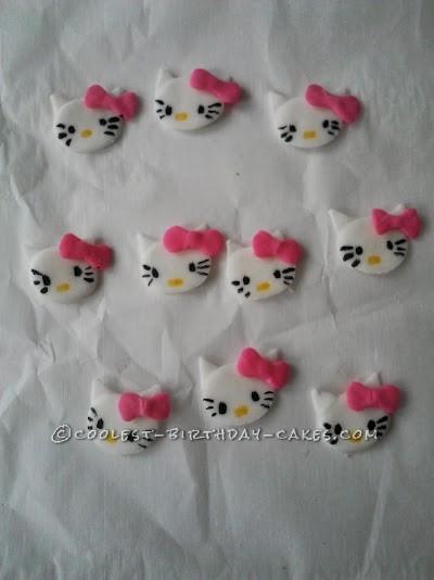 Adorable Hello Kitty Cake and Cupcakes