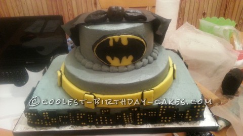 Awesome 3 Tier Batman Cake