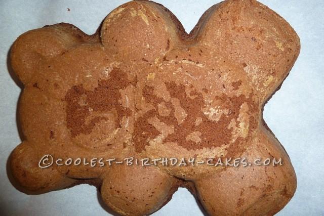 Casey's Teddy Bear Birthday Cake