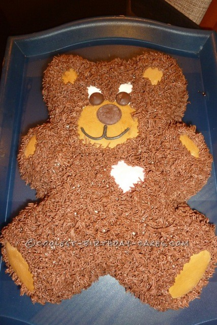 Casey's Teddy Bear Birthday Cake