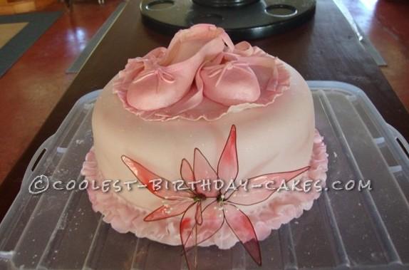 Coolest Ballet Slipper Cake for a Dancer