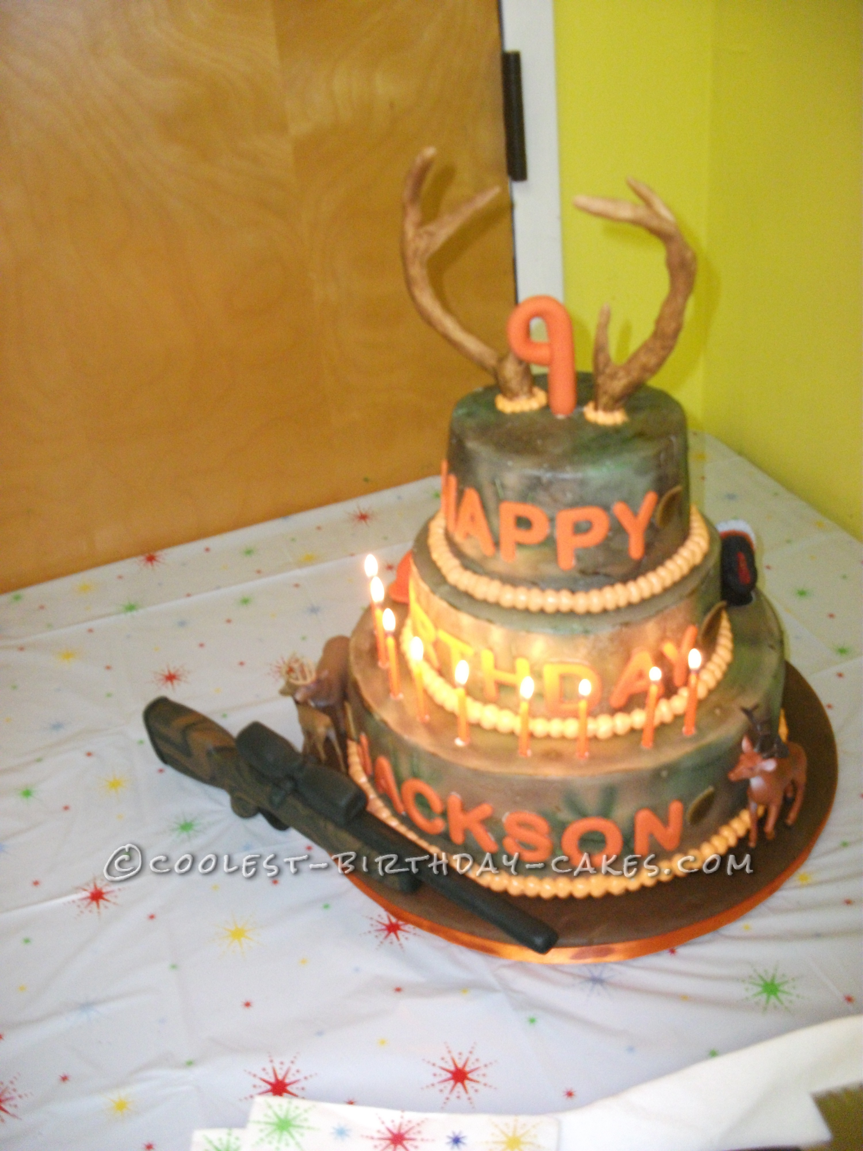 Tremendous Coolest Camo Hunting Cake Funny Birthday Cards Online Barepcheapnameinfo