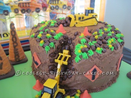 Coolest Construction Birthday Cake