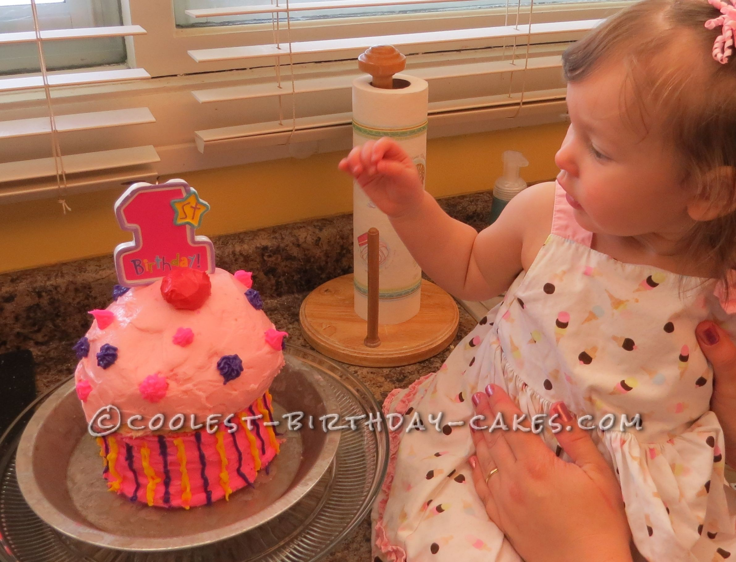 Coolest Giant Cupcake for 1st Birthday