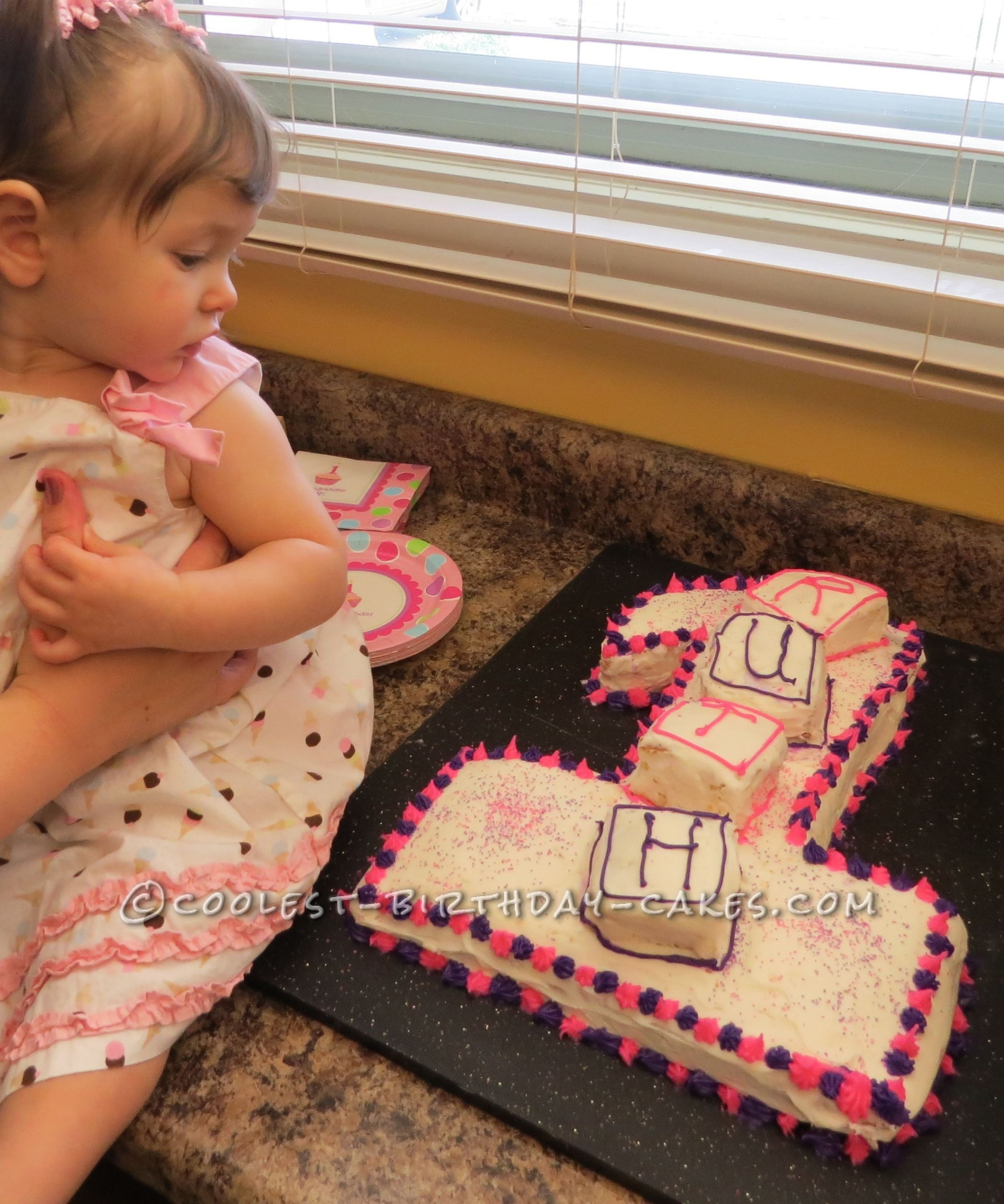 Coolest Number One 1st Birthday Cake