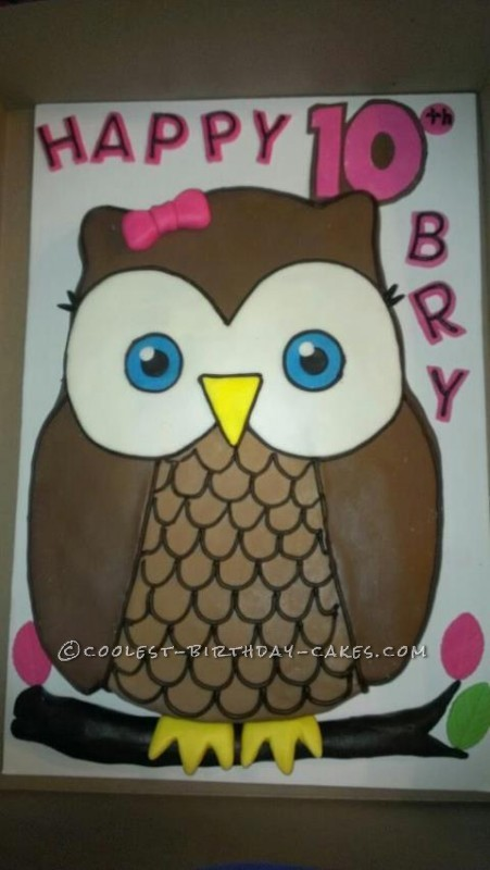 Coolest Owl Birthday Cake