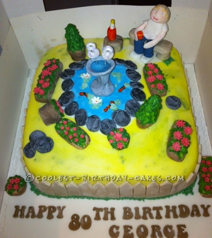 Coolest Pond Birthday Cake