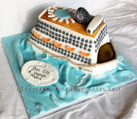 Coolest Ship Birthday Cake