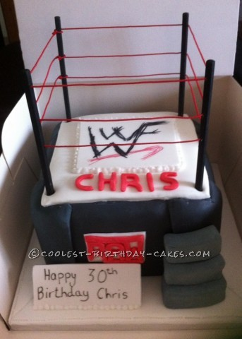 Coolest Wrestling Ring Birthday Cake