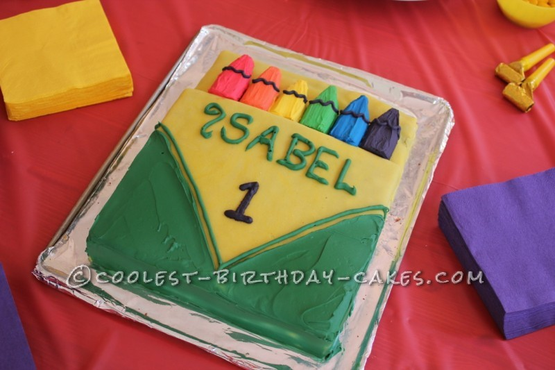 Coolest Crayon Birthday Cake