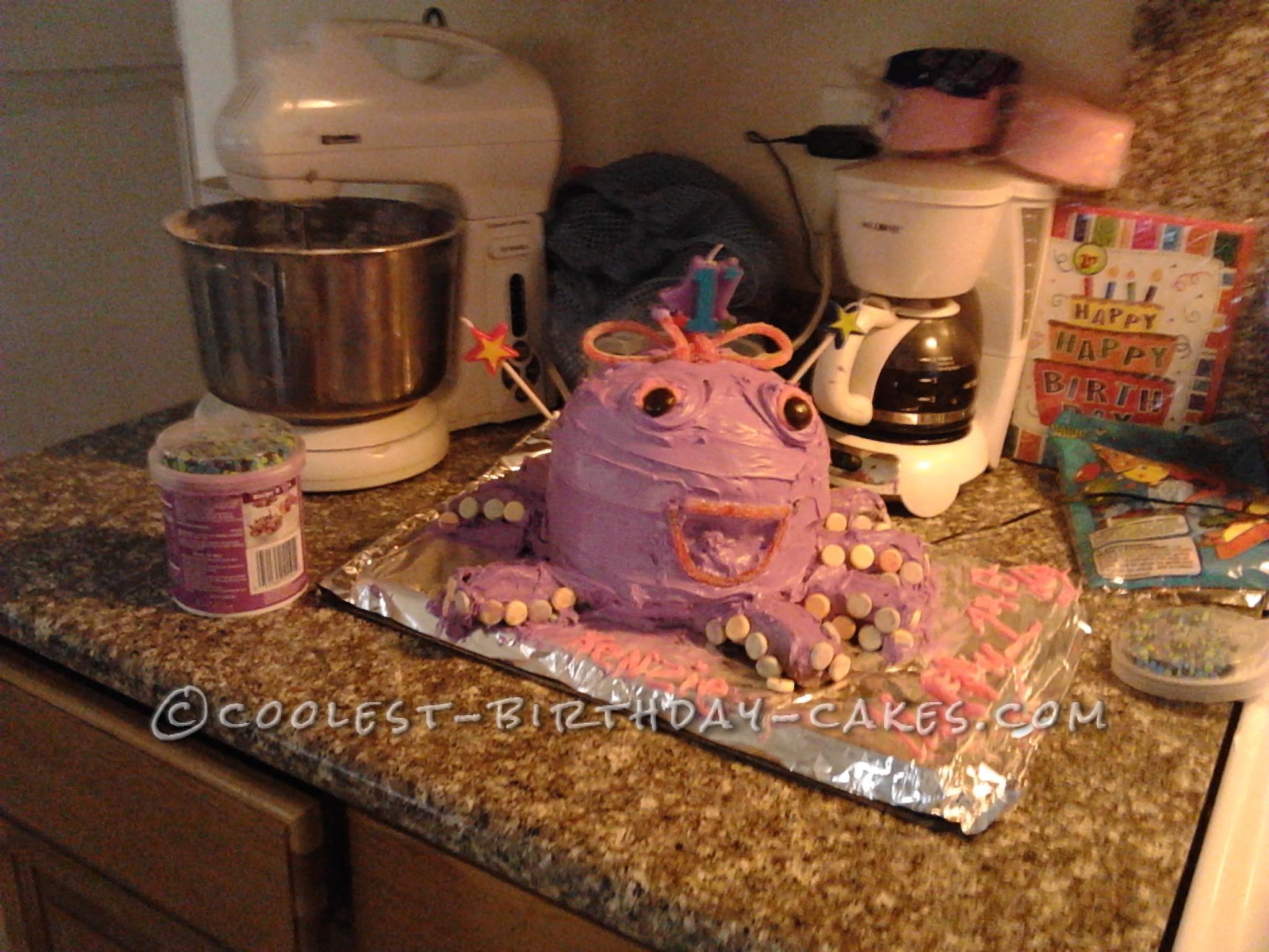 Cutest Purple Octopus Birthday Cake