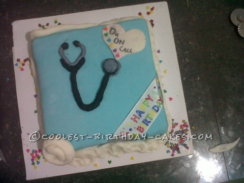Coolest Doctor on Call Birthday Cake