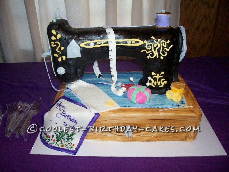 Greatest Sewing Machine Cake For 90 Year Old Seamstress