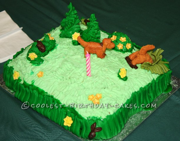Coolest Hunting Dogs Birthday Cake