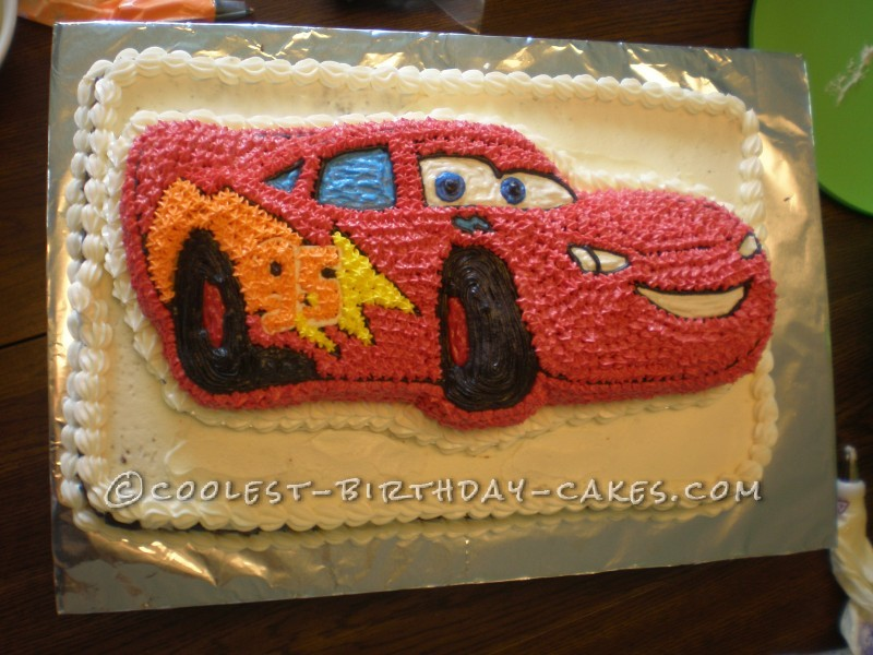 Coolest Lightning Mcqueen Cake