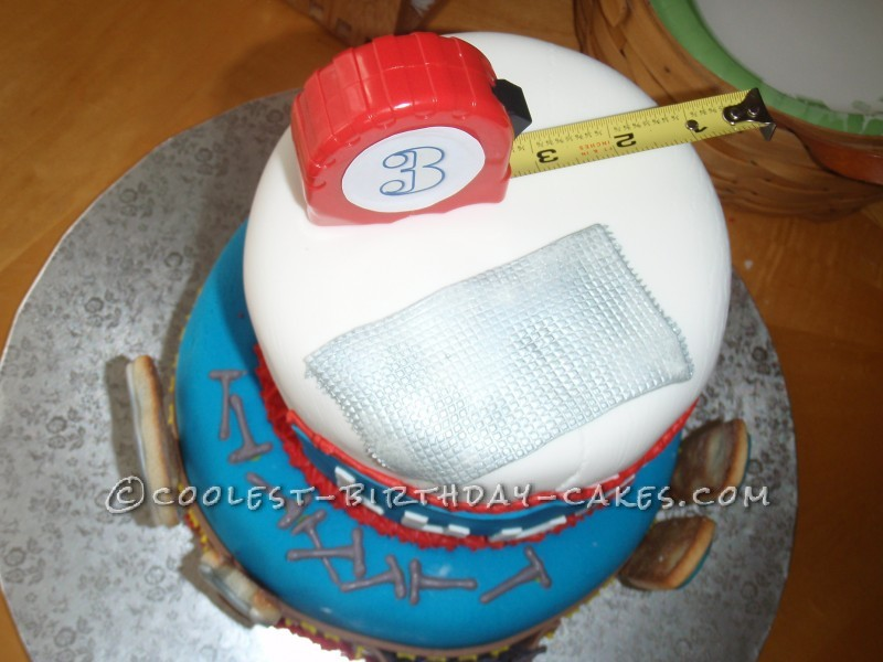 Luke's Construction Tools Birthday Cake