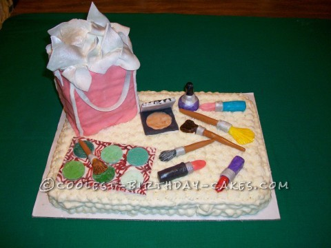 Coolest Make-Up Cake for 13 Year Old Girl