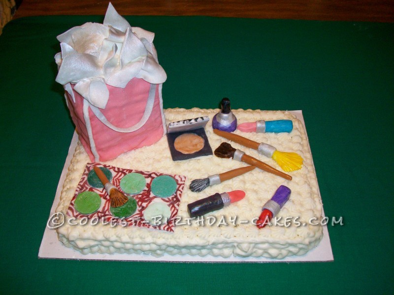 Phenomenal Coolest Make Up Cake For 13 Year Old Girl Funny Birthday Cards Online Inifodamsfinfo