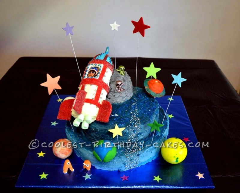 Amazing Coolest Homemade Space Cakes Funny Birthday Cards Online Alyptdamsfinfo