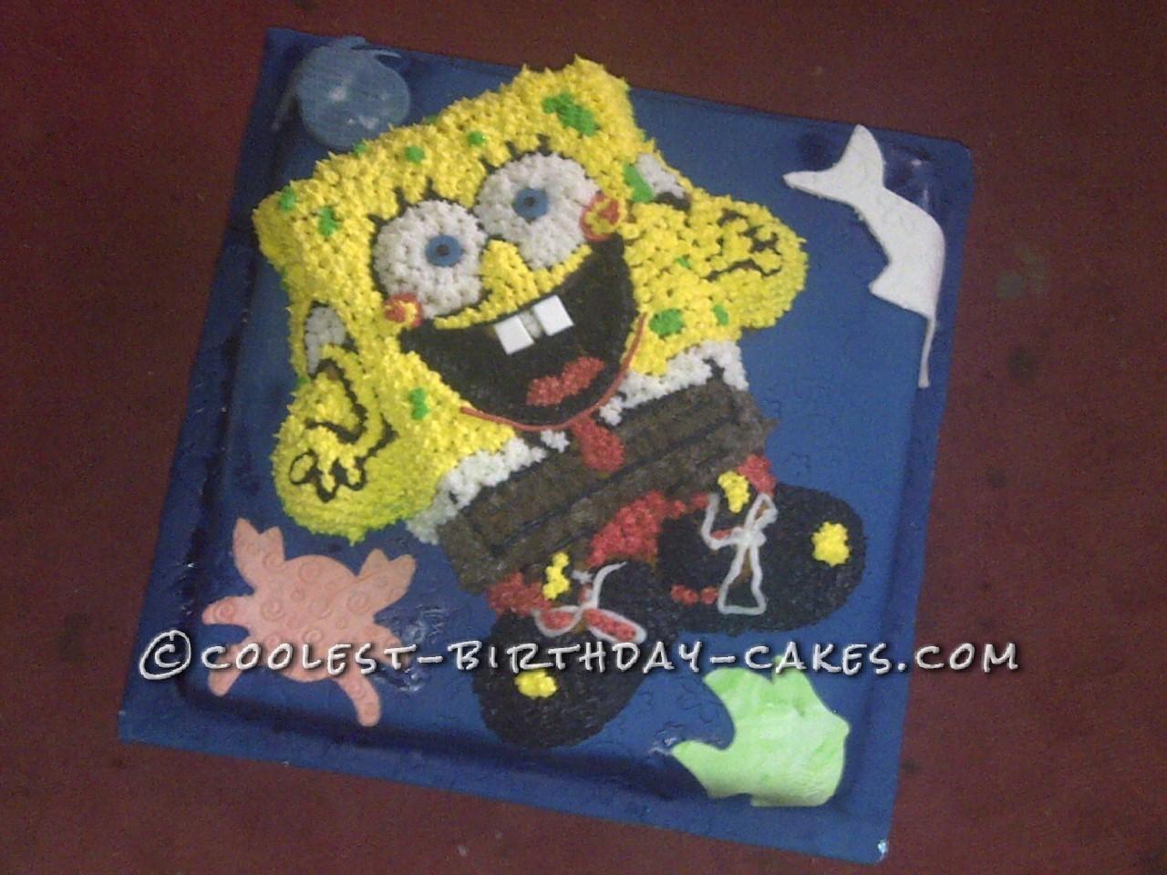 Coolest Sea Food Loving Sponge Bob Cake