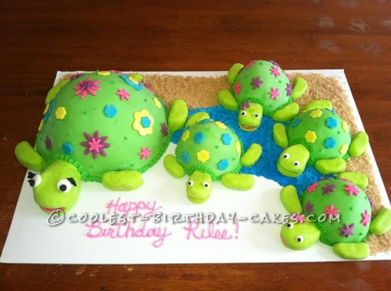 Cool Coolest Sea Turtles Birthday Cake Funny Birthday Cards Online Inifofree Goldxyz