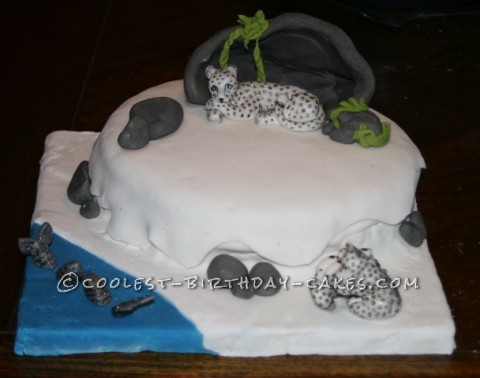 Snow Leopard Birthday Cake