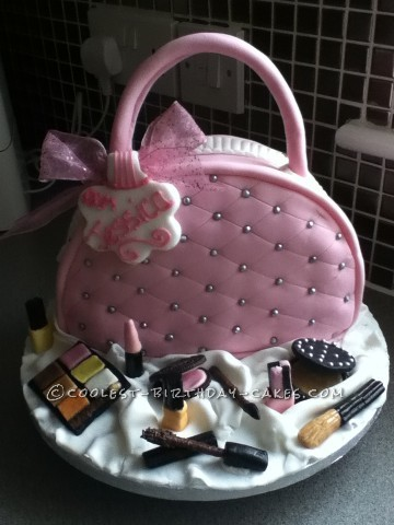 sooo easy Bag with Make-up cake