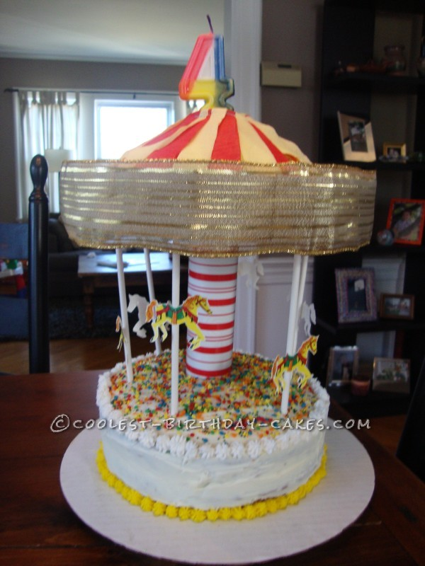 Coolest Spinning Carousel Birthday Cake
