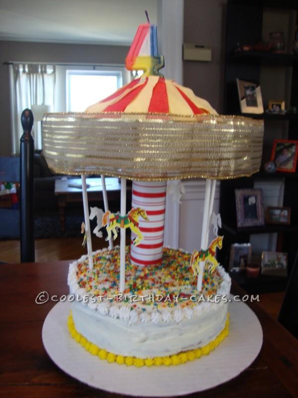 Coolest Spinning Carousel Birthday Cake