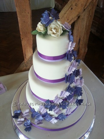 Stunning Homemade Butterfly Wedding Cake
