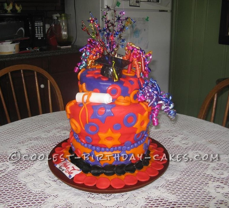 Coolest Topsy Turvy Surprise Cake
