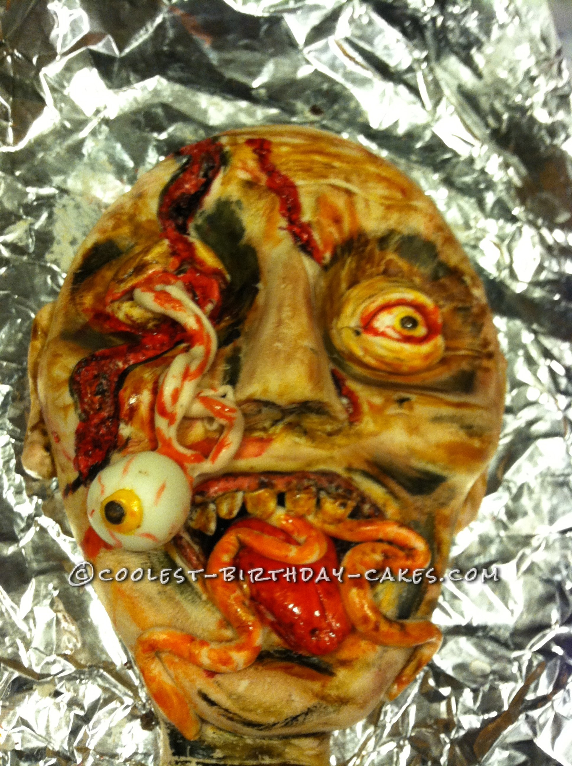 zombie made of cake covered with fondant