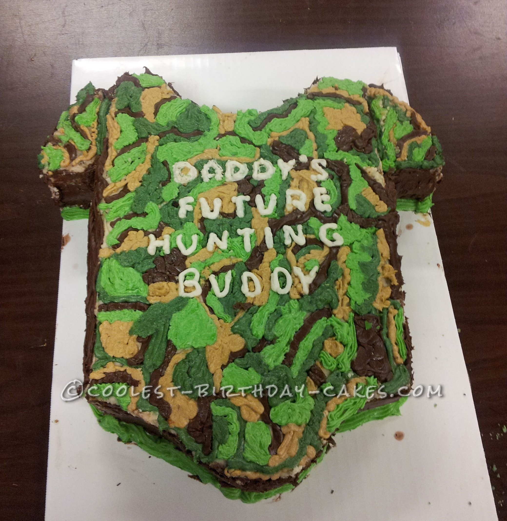 Coolest Camo Baby Shower Cake