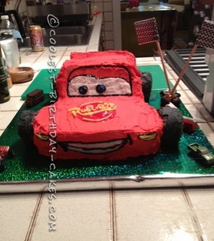 Coolest Lightening McQueen Birthday Cake