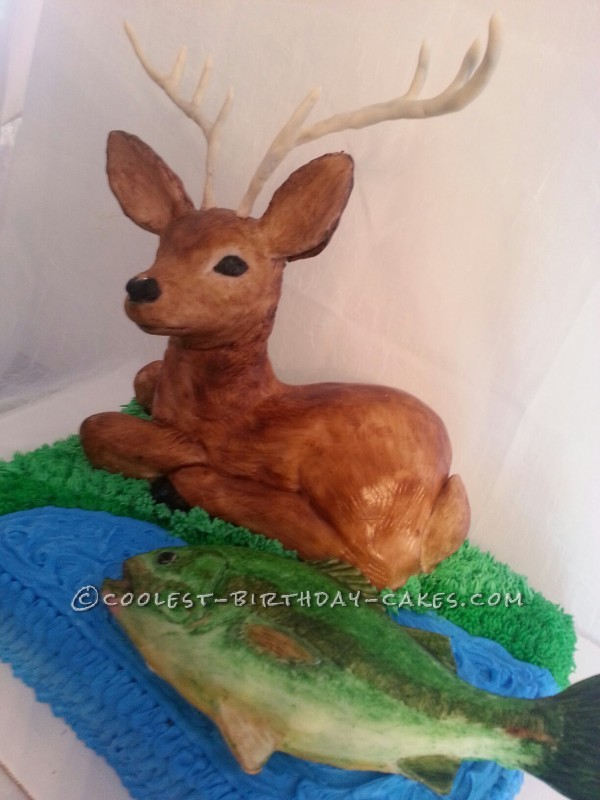 Coolest Hunting and Fishing Cake
