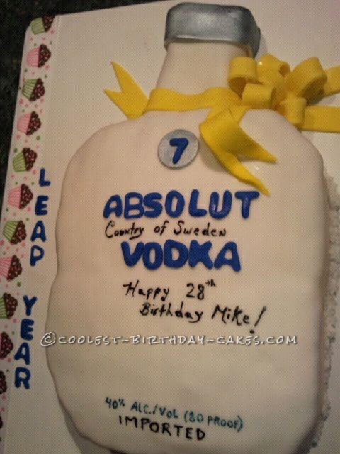 Coolest Absolut Vodka Cake
